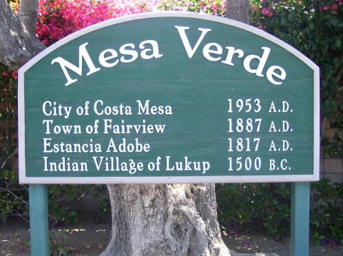 costa mesa sign - large